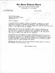 Letter from Senator Langer to Pastor T. W. Strieter regarding Martin Sandberger Case, July 2, 1949