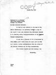 Letter from Senator Langer to T. W. Strieter Forwarding Report from Acting Commander Huebner Regarding Martin Sandberger, August 10, 1949