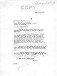Letter from Senator Langer Informing T. W.Strieter of Vote to Review Death Penalty Cases, August 26, 1949
