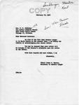 Letter from Senator Langer's Secretary Irene Martin to T. W. Strieter Acknowledging Receipt of Strieter's Letter, February 16, 1950