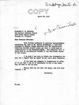 Letter from Senator Langer to Pastor T. W. Strieter Regarding Martin Sandberger, March 22, 1950