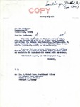 Letter from Senator Langer to Eva Sandberger regarding the Sparing of the Life of Her Husband, Martin Sandberger, 1951