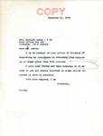 Letter from Senator Langer to internee Richard Auras, 1945