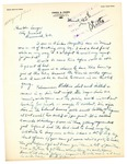 Letter from Henry G. Owen to Attorney General Langer Regarding Lawlessness in Minot and His Recent Injury, 1919