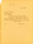 Letter from Attorney General Langer to Cavalier County Sheriff regarding Enforcement of Liquor Laws, 1917