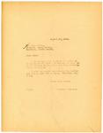 Letter to Logan County Sheriff regarding Gambling, August 1918