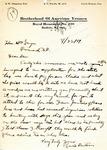 Letter from Lewis Easton of the Brotherhood of American Yeomen, Buffalo, North Dakota: August 1919