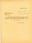 Letter from Attorney General Langer to Cass County Sheriff, November 1918