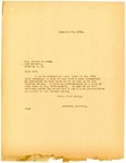 Letter from Langer to Albert Janssen regarding Arrest and Guilty Plea, January 1919