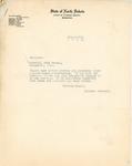 Letter from Langer to Sheriff of Polk County, Minnesota, October 1919