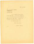 Letter to Sheriff Ross regarding Sam Bazant, December 15, 1919