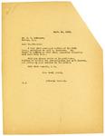Letter to J.H. Johanson regarding an Investigation, September 1919