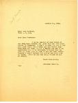 Letter from Langer to Anna Bortret regarding the Carl Meier Case