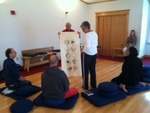 Lotus Meditation Center -- Tamar Read gives presentation -- Ox Herding -10 Stages of Enlightenment 4 by Janet Rex