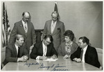 North Dakota Governor George Sinner signing Legislation