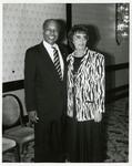 Dr. Louis Sullivan and Dagne Olsen of the President's Committee on Mental Retardation