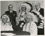 Burdick, Langer, and Young Host a Delegation from Fort Berthold