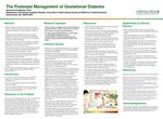 The Postnatal Management of Gestational Diabetes