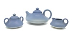 C MSC 077-0600, Blue tea set - teapot, creamer, sugar by Martha E. Barnes