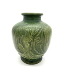 C MSC 087-0681 Gift, Green tropical fish vase by Charles (Happy) Grantier