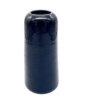 C MSC 104-0698 Gift, Dark blue capsule shaped vase by Dena Bitzen