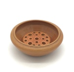 C MSC 100-0694 Gift, Rust colored bowl with frog insert by Dena Bitzen