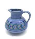 C CBL 012-0182, Blue Floral Pitcher by Margaret Kelly Cable