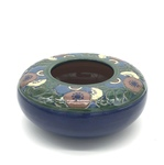 C CBL 016-0186, Blue Floral Shallow Bowl by Margaret Kelly Cable