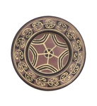 C CBL 052-0222, Star motif bentonite plate by Margaret Kelly Cable