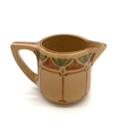 C CBL 042-0212, Art deco creamer, brown by Margaret Kelly Cable