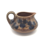 C CBL 044-0214, Brown Floral Creamer Container by Margaret Kelly Cable