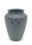 C CBL 039-0209, Blue Floral Vase by Margaret Kelly Cable