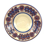 C CBL 036-0206, Blue and Brown Wheat Motif Bowl by Margaret Kelly Cable