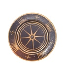 C CBL 051-0221, Brown and gold starburst plate by Margaret Kelly Cable