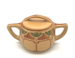 C CBL 041-0211, Tan Sugar Bowl by Margaret Kelly Cable
