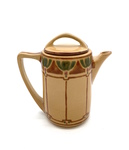 C CBL 040-0210, Art deco teapot, brown by Margaret Kelly Cable