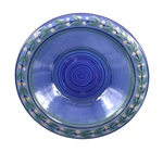 C CBL 071-0241, Blue Floral Dish by Margaret Kelly Cable
