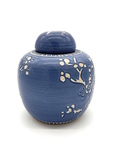 C CBL 060-0230, Blue ginger jar with branches by Margaret Kelly Cable
