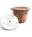 C HLD 032-0660, Art deco style bean pot by Hildegarde Fried Dreps
