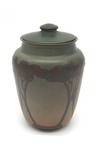 C CBL 059-0229, Green covered jar with trees by Margaret Kelly Cable