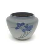 C CBL 065-0235, Light blue pot with irises by Margaret Kelly Cable