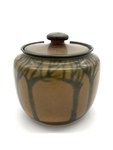 C CBL 067-0237 Brown with trees cookie jar by Margaret Kelly Cable