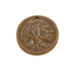 Brown Indian Head Pendant Side A