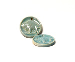 Bison Pendants - Turquoise, Side A