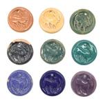 Non-Partisan League Convention Ceramic Goat Pendants, Multi-colored Lot 2 - Side A