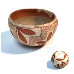 Clay Bowl - White and Brown