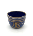 Glaze Test Bowl, Blue and Metallic Gold by Maker Unknown (RB)