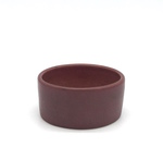 Flat-sided dish, burgundy by Maker Unkown (VMA)