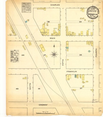 Sanborn Maps of North Dakota | Elwyn B. Robinson Department ... on carrington nd map, foster county nd map, carrington north dakota weather, carrington nd weather, carrington north dakota hotels, fortuna nd map, mohall nd map, kensal nd map, cavalier nd map,