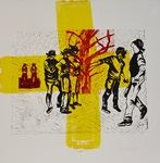 Yellow Cross by Joyce Ellen Weinstein
